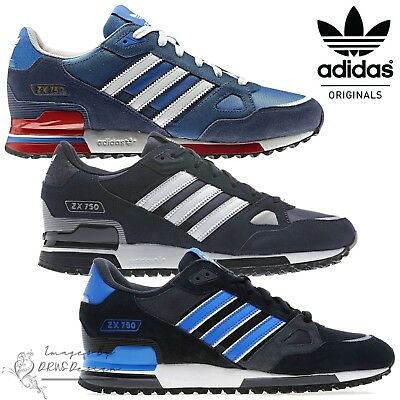 innovative design 366f5 d2b5b Adidas Originals ZX 750 Men s Suede Trainers Retro Casual Sports Running  Shoes