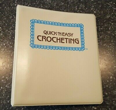 Quick 'N Easy Crocheting Binder with Dividers & Patterns