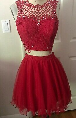 7d8fbadbbcb JODI KRISTOPHER SIZE 3 Crocheted Lace Bodice and Flared Voile Skirt ...