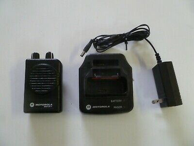 Motorola Minitor V Stored Voice 151-158.9 MHz VHF Fire EMS Pager w Charger g176
