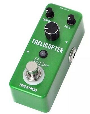 Rowin guitar TRELICOPTER Effects Pedal. Optical Vibe. Tremolo. True Bypass NEW.