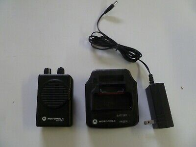 Motorola Minitor V Stored Voice 151-158.9 MHz VHF Fire EMS Pager w Charger y288
