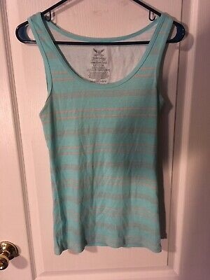 4e504ffbdbd0ef WHITE   RED Floral Faded Glory Must-Have Tank Top Size Large (12-14 ...