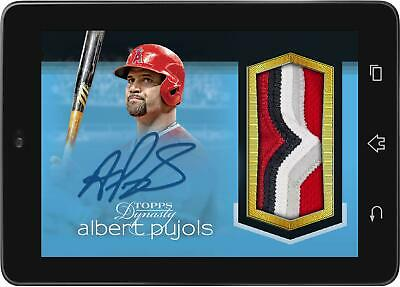 Topps BUNT Albert Pujols SIGNATURE RELIC DYNASTY 2019 Drop 2 [DIGITAL CARD] 50cc