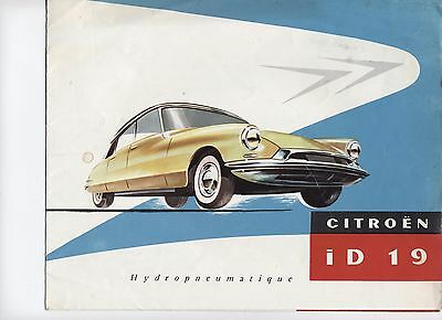 Citroen Id19 Catalogue Depliant 1956 Original