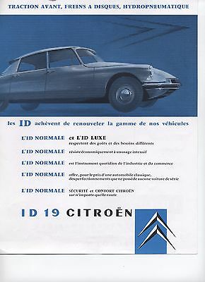 Catalogue Citroen Id19
