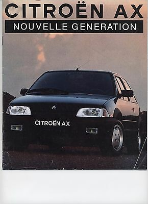 Citroen Ax Catalogue Brochure 1991