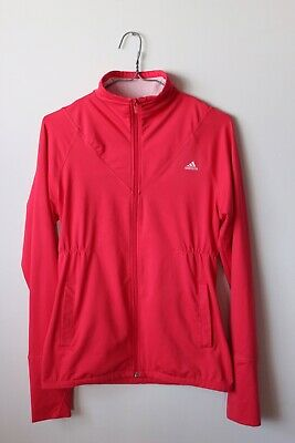 Adidas Ladies Hot Pink & Blue Zip Front Activity Climalite