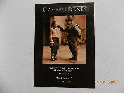 Rittenhouse Game of Thrones Season 1 - Quotable card Q10