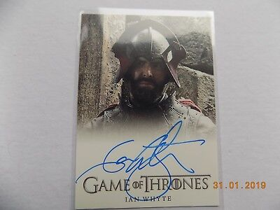Rittenhouse Game of Thrones Season 3 - Autograph card - Ian Whyte