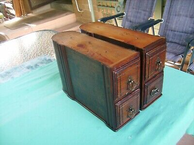 """4 X ANTIQUE""""GERMAN""""SEWING MACHINE DRAWERS & CRADLES very early items"""