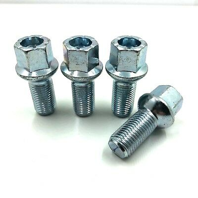 4 x ALLOY WHEEL BOLTS FOR GOLF M14 x 1.5 17mm  27MM RADIUS,NUTS,STUDS,LUGS  [26]