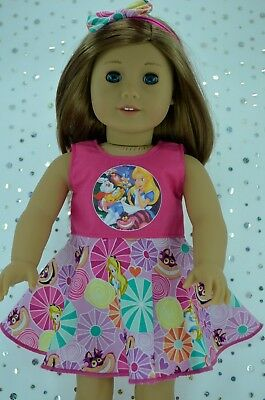 """Doll Clothes For 18"""" American Girl~Our Generation~Journey CIRCLE DRESS~HEADBAND"""