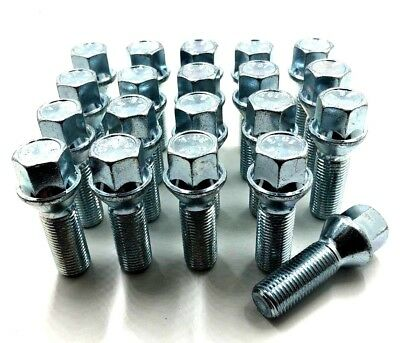 20 x ALLOY WHEEL BOLTS FOR AUDI M14 X 1.5 27MM 60 TAPER NUTS LUGS STUDS [32]