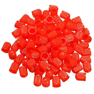 100pcs Plastic Valve Caps Tire Cap Valve Cover for Car Motorcycle red X8T8