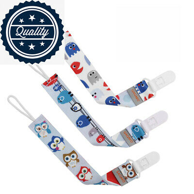 GAGAKU 3 Pack Pacifier Clip Holder for Girls and Boys Teeth Ring Toy Leash,...