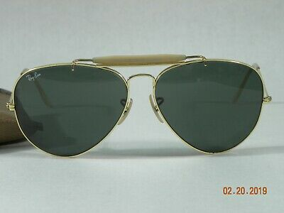 RAY-BAN Bausch & Lomb Sunglasses + Case 62[]14 Large Aviator Vintage