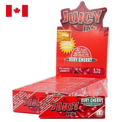 Juicy Jay's 1 1/4 Cherry Rolling Paper - 1 Box 24 Pks (32 Papers/Pk)