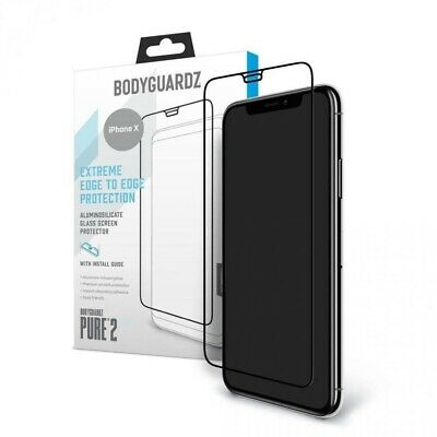 New BodyGuardz PURE 2 Tempered Glass Screen Protector For iPhone X Genuine Inbox