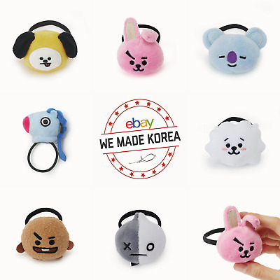 BTS BT21 Character Face Hair Tie Hair Band Hair Ring Official K-POP Authentic MD