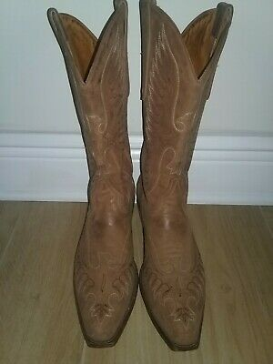 c758c1b413409 VGUC Tall Old Gringo Brown Suede Leather (Eagle Design) Boots US Size 9 D