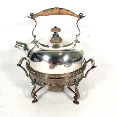 Antique Ensko New York Sterling Silver Teapot Tea Kettle on Stand Paw Feet