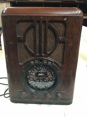 1930s Vintage Zenith Foreign Broadcast Long Distance Radio Model 6-S-330 WORKING