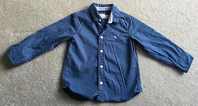 L.O.G.G. by H&M Cotton Blue Spotted Shirt (1.5 - 2 years)