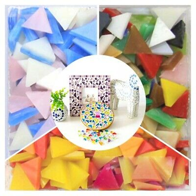 Triangle Mosaic Tiles Glass Tessera DIY Craft Home Decoration School projects