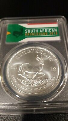 2018 South Africa Silver Krugerrand 1oz PCGS MS70 FS Rare Label