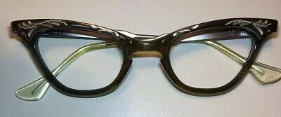 Vintage Gray Silver Womans Frame With Rhinestones 42x22 5.25 Temple Designs