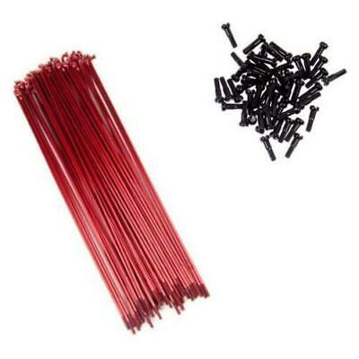 Mutiny BMX Double Butted Spokes 194mm + Alloy Nipples - Red Spokes 50pc