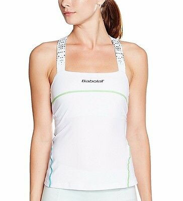 Babolat Performance Womens Perforated Racerback Tennis Tank Top Vest Activewear