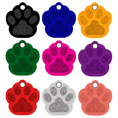 20pcs Pet ID Name Tag Tags Laser Engraved Dog Cat Bone Customised & Personalised