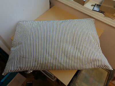 Antique Pillow-Down Filled-Blue Striped Ticking
