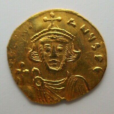 685-695 Byzantine Empire JUSTINIAN II First Reign AV TREMISSIS Gold Coin ANCIENT