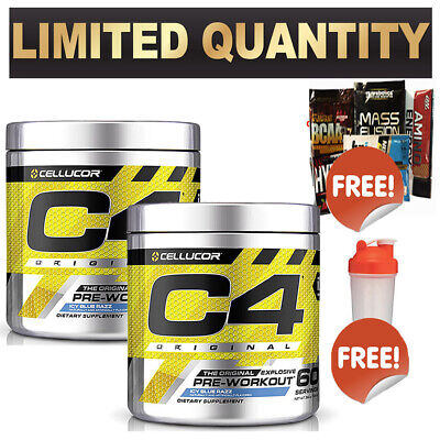 2 X Cellucor C4 Pre Workout New Version Original Id Series Preworkout 60 Serves
