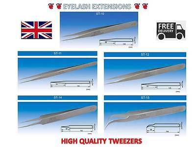 Vetus Swiss High Quality Straight Pointed /curved Tweezers For Eyelash Extension