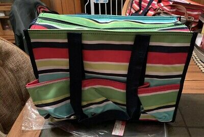 Thirty One Zip Top Organizing Utility Tote New Bold Bloom 1550