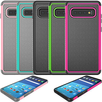 For Samsung Galaxy S10 /S10 Plus /S10+ /S10e Shockproof Hybrid Rubber Case Cover