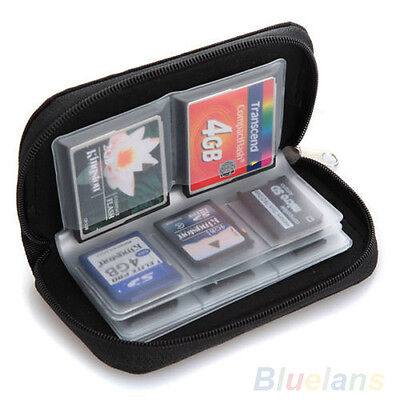 FT- Vogue SDHC MMC CF Micro SD Memory Card Storage Carrying Pouch Case Holder Wa