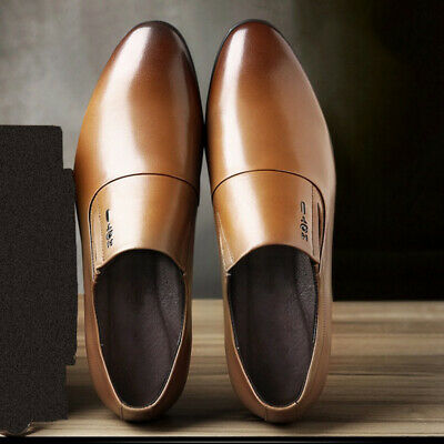 93331e50eb0 Men Formal Pointed Toe Flat Oxford Leather Loafers Shoes Comfortable Plus  Size