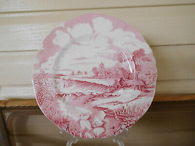 """Alfred Meakin """"Pink Pastoral"""" Dinner Plate Made In England"""