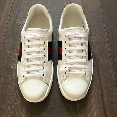 a8028915175 GUCCI SNEAKERS   White W  Tiger Patch   High Top   Leather   10.0 ...