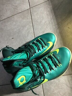 9f80619bf495 Nike Zoom KD 5 Hulk Atomic Teal Volt 554988-300 Basketball Men s Size 10.5  Good