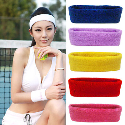 FT- Unisex Sport Sweat Sweatband Headband Yoga Gym Stretch Head Hair Band Newly