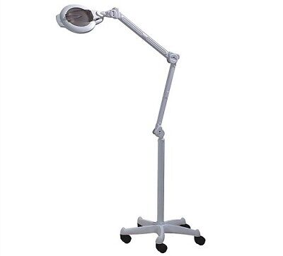 Magnifying Beauty Lamp Free Standing Rotating Extendible Arm Illuminated Spa