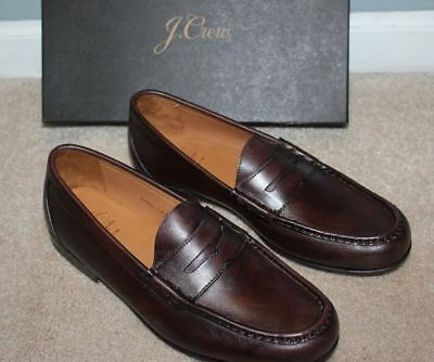 55221a83bfe New JCrew  288 Ludlow Italian Leather Penny Loafers 8M Pony Brown Shoes  G7323