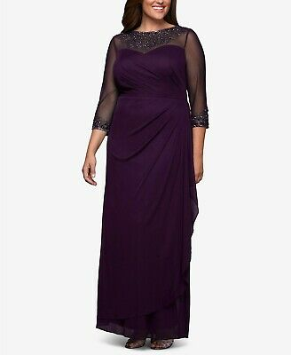 7ed3b6572e0 Alex Evenings Plus Size Embellished Sweetheart Gown 229  Size 14W   10A 213  NEW