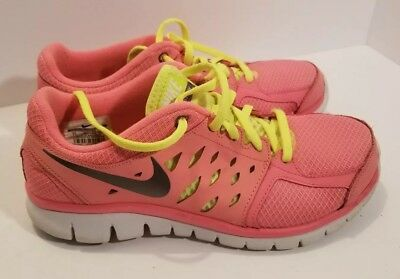 5c99ef4b13a0 Girls Kids Youth NIKE Flex 2013 RN 579971 602 Pink Sneakers Shoes Size 7y
